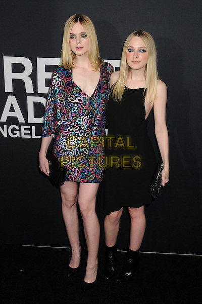 10 February 2016 - Los Angeles, California - Elle Fanning, Dakota Fanning. Saint Laurent At The Palladium held at the Hollywood Palladium. <br /> CAP/ADM/BP<br /> &copy;BP/ADM/Capital Pictures