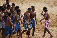 Jogos Indígenas Altamira.<br /> Altamira, Pará, Brasil.<br /> Foto Paulo Santos<br /> 2005
