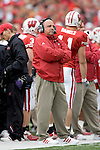 MADISON, WI - OCTOBER 22: Head coach Barry Alvarez of the Wisconsin Badgers watches his team against the Purdue Boilermakers at Camp Randall Stadium on October 22, 2005 in Madison, Wisconsin. The Badgers beat the Hoosiers 31-20. Photo by David Stluka.