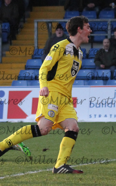 Sean Kelly in the Ross County v St Mirren Scottish Professional Football League match played at the Global Energy Stadium, Dingwall on 17.1.15.