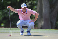 Rory McIlroy (NIR) lines up his putt on 1 during round 3 of the Arnold Palmer Invitational at Bay Hill Golf Club, Bay Hill, Florida. 3/9/2019.<br /> Picture: Golffile | Ken Murray<br /> <br /> <br /> All photo usage must carry mandatory copyright credit (&copy; Golffile | Ken Murray)