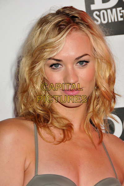 "YVONNE STRAHOVSKI.DoSomething.org ""The Power of Youth"" 2009 Teen Choice Awards Pre-Party held at Madame Tussauds, Hollywood, CA, USA..August 8th, 2009.Do Something headshot portrait grey gray .CAP/ADM/BP.©Byron Purvis/AdMedia/Capital Pictures."