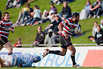 Siale Piutau leaves a Northland defender in his wake as he makes a midfield break.  ITM Cup rugby game between Counties Manukau Steelers and Northland, played at Bayer Growers Stadium, Pukekohe, on Sunday September 26th 2010..The Counties Manukau Steelers won 40 - 24 after leading 27 - 7 at halftime.