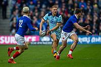 8th March 2020; Murrayfield Stadium, Edinburgh, Scotland; International Six Nations Rugby, Scotland versus France; Chris Harris of Scotland looks to pass the ball