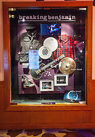 LAS VEGAS, NV - August 18, 2016: ***HOUSE COVERAGE*** Breaking Benjamin Display Case pictured as they are honored with a memorabilia Case Display at Hard Rock Hotel & Casino in Las vegas, NV on August 18, 2016. Credit: Erik Kabik Photography/ MediaPunch