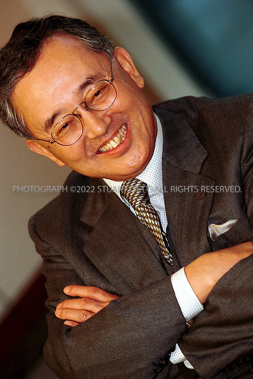 2/5/2002--Tokyo, Japan..Yoshihiko Miyauchi, chairman and CEO of Orix Corporation...All photographs ©2003 Stuart Isett.All rights reserved.This image may not be reproduced without expressed written permission from Stuart Isett.