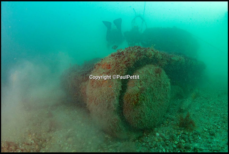 BNPS.co.uk (01202 558833)<br /> Pic: PaulPettit/BNPS<br /> <br /> PurbeckSub Aqua club have undertaken the survey.<br /> <br /> Seven amphibious tanks which sunk during a crucial rehearsal for the D-Day landings off the south coast of England have been examined by underwater archaeologists as part of a project to commemorate the six soldiers who drowned in the operation.<br /> <br /> The remains of the Valentine Duplex Drive (DD) tanks still lie on the seabed 73 years after Operation Smash took place on April 4, 1944 on Studland Bay in Dorset.<br /> <br /> All seven tanks have been photographed by divers from the Isle of Purbeck Sub Aqua Club for the Valentine 75 exhibition which will mark the 75th anniversary of the exercise.<br /> <br /> The divers found that the hulls of the tanks are all relatively intact and there are significant debris fields around each one. Most tanks have at least part of the turret and the guns seem to have survived.