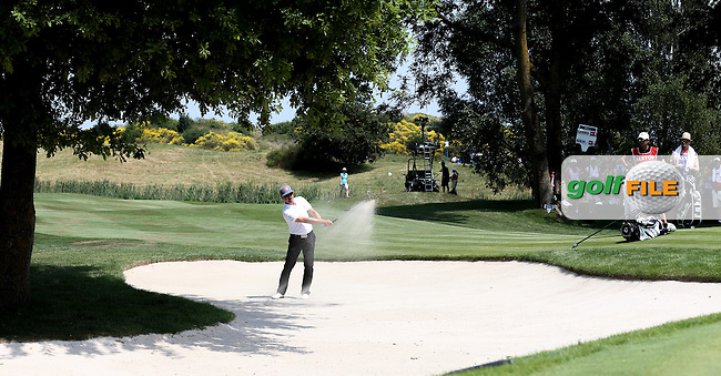 Mikko Korhonen (FIN) in the bunker on the 3rd during Round Three of the 2015 Alstom Open de France, played at Le Golf National, Saint-Quentin-En-Yvelines, Paris, France. /04/07/2015/. Picture: Golffile | David Lloyd<br /> <br /> All photos usage must carry mandatory copyright credit (&copy; Golffile | David Lloyd)