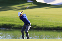 Lucas Bjerregaad (DEN) plays his 2nd shot on the 10th hole during Sunday's Final Round of the 2018 Turkish Airlines Open hosted by Regnum Carya Golf &amp; Spa Resort, Antalya, Turkey. 4th November 2018.<br /> Picture: Eoin Clarke | Golffile<br /> <br /> <br /> All photos usage must carry mandatory copyright credit (&copy; Golffile | Eoin Clarke)