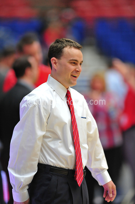 Jan 15, 2011; Tucson, AZ, USA; Arizona Wildcats assistant coach Archie Miller prior to a game against the Arizona State Sun Devils at the McKale Center.
