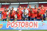 BARRANQUILLA - COLOMBIA -09-02-2014: Universidad Autonoma y el Itagúi en partido por la cuarta fecha de la Liga Postobon I 2014 en el estadio Metropolitano Roberto Melendez de la ciudad de Barranquilla.  / Universidad Autonoma and Itagúi during a match for the fourth date of the Liga Postobon I 2014 at the Metropolitano Roberto Melendez stadium in Barranquilla city. Photo: VizzorImage  / Alfonso Cervantes / Str.