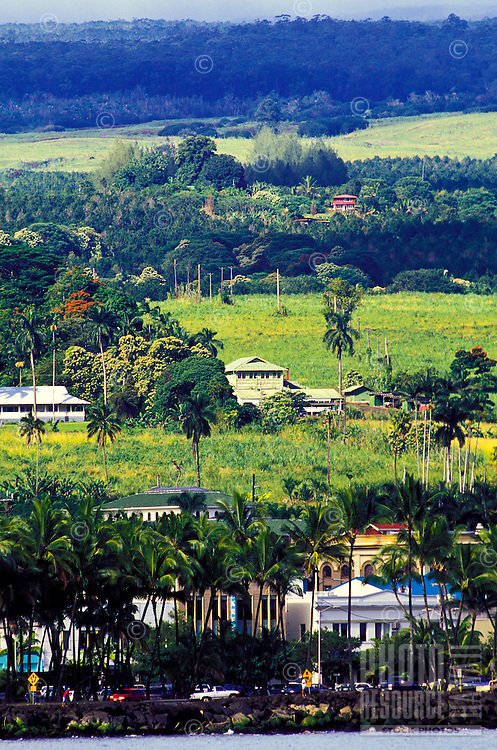 Hilo, Hawaii, offshore view.