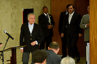 BRASÍLIA, DF, 27.11.2016 – TEMER-COLETIVA – O presidente Michel Temer, o presidente da Câmara dos Deputados, Rodrigo Maia e o presidente do Senado Federal, Renan Calheiros durante coletiva de imprensa no Palácio do Planalto neste domingo, 27.(Foto: Ricardo Botelho/Brazil Photo Press)