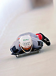12 December 2006: Daniel Maechler, from Switzerland, slides down a straightaway during a training run in preparation for the World Cup Skeleton Competition at the Olympic Sports Complex on Mount Van Hoevenburg  in Lake Placid, New York, USA.&amp;#xA;&amp;#xA;Mandatory Photo credit: Ed Wolfstein Photo<br />