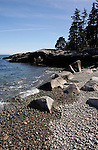 Beaches and rocks along Maine's rocky coastline