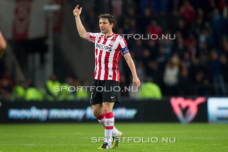 Nederland, Amsterdam, 4 oktober  2012.Seizoen 2012-2013.EuropaLeague.PSV-Napoli.Mark van Bommel van PSV in actie