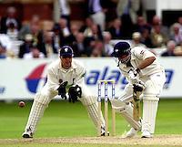 Photo Peter Spurrier.31/08/2002.Cheltenham & Gloucester Trophy Final - Lords.Somerset C.C vs YorkshireC.C..Yorkshire batting;  Matt Elliott. and Somerset wicketkeeper Rob Turner