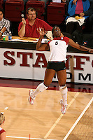27 October 2005: Njideka Nnamani during Stanford's 3-0 win over Oregon at Maples Pavilion in Stanford, CA.
