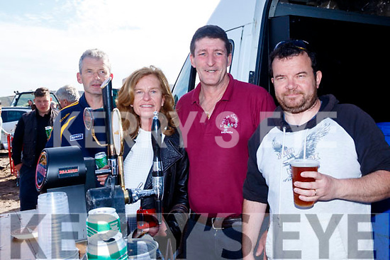 Great to Beer here<br /> -------------------------<br /> Keeping lubricated at the races last Sunday were L-R Tom&aacute;s O Beaglaoich, Kerryann Daly, Diarmuid Machnstsaoir ages Donal O Cathain.