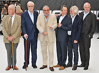 "Sir Michael Gambon, Sir Michael Caine, Ray Winstone, Paul Whitehouse, Sir Tom Courtenay and Jim Broadbent at the ""King of Thieves"" world film premiere, Vue West End, Leicester Square, London, England, UK, on Wednesday 12 September 2018.<br /> CAP/CAN<br /> ©CAN/Capital Pictures"