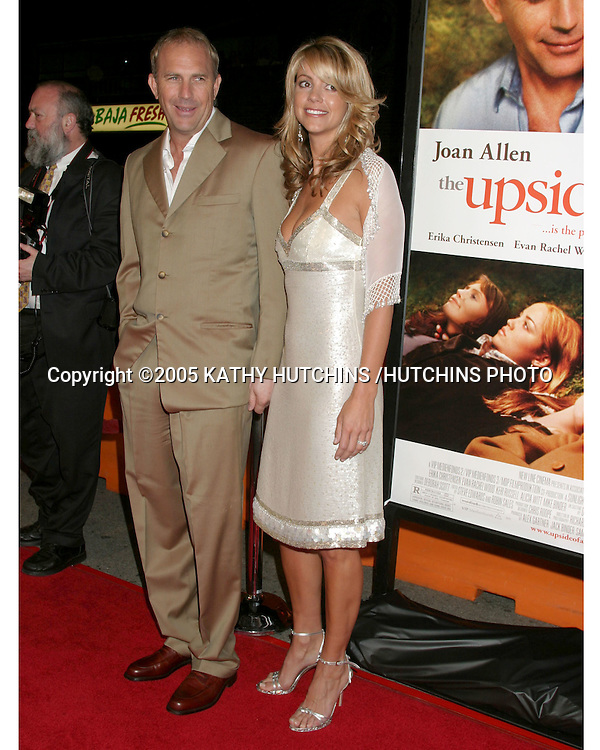 "KEVIN COSTNER AND WIFE CHRISTINE.""THE UPSIDE OF ANGER"" SCREENING.MANN NATIONAL THEATER.WESTWOOD, CA.MARCH 3, 2005.©2005 KATHY HUTCHINS /HUTCHINS PHOTO..."
