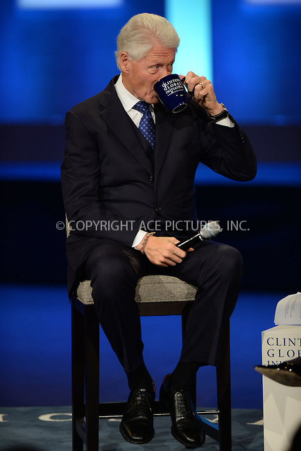 WWW.ACEPIXS.COM<br /> September 29, 2015 New York City<br /> <br /> Bill Clinton attending the CGI Annual Meeting on September 29, 2015 in New York City.<br /> <br /> Credit: Kristin Callahan/ACE Pictures<br /> <br /> Tel: (646) 769 0430<br /> e-mail: info@acepixs.com<br /> web: http://www.acepixs.com