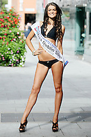 17/9/2010. Miss Ireland contestants. Miss Dublin South Eileen Greer is pictured at St Stephens Green. the 35 Miss Ireland contestants officially unveiled in their swimwear and sashes for the 1st time at Stephen's Green Shopping Centre,  Dublin. Picture James Horan/Collins Photos