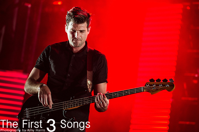 Cubbie Fink of Foster the People performs during Day 3 of the 2013 Firefly Music Festival in Dover, Delaware.