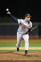 Illinois Fighting Illini relief pitcher Garrett Acton (26) delivers a pitch to the plate against the Wake Forest Demon Deacons at David F. Couch Ballpark on February 16, 2019 in  Winston-Salem, North Carolina.  The Fighting Illini defeated the Demon Deacons 5-2. (Brian Westerholt/Four Seam Images)
