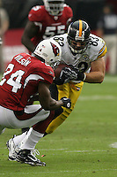 10/23/11 Glendale, AZ: Pittsburgh Steelers tight end Heath Miller #83 and Arizona Cardinals strong safety Adrian Wilson #24 during an NFL game played at University of Phoenix Stadium between the Arizona Cardinals and the Pittsburgh Steelers. The Steelers defeated the Cardinals 32-20.