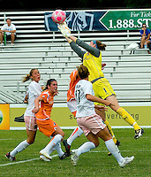 Sky Blue FC  goalkeeper Karen Bardsley (1) makes a save during a WPS match at Anheuser-Busch Soccer Park, in St. Louis, MO, June 7, 2009. Athletica won the match 1-0.