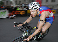 20 AUG 2005 - LAUSANNE, SWITZERLAND - Andrew Johns (GBR) - European Elite Mens Triathlon Championships. (PHOTO (C) NIGEL FARROW)