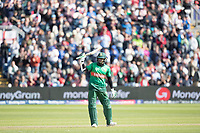 Shakib Al Hasan (Bangladesh) acknowledges his century during England vs Bangladesh, ICC World Cup Cricket at Sophia Gardens Cardiff on 8th June 2019