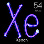 Xenon gas in tube