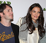 Josh Hamilton and Katie Holmes attending the Meet & Greet the cast of the new Broadway Play 'Dead Accounts' on October 12, 2012 in New York City.