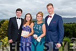 Pictured at the Presentation Tralee Debs ball at the Ballyroe Heights Hotel on Thursday, were, from l-r Diarmuid Moriarty, Caitlyn Corcoran, Debbie O'Sullivan and Shane Moriarty.