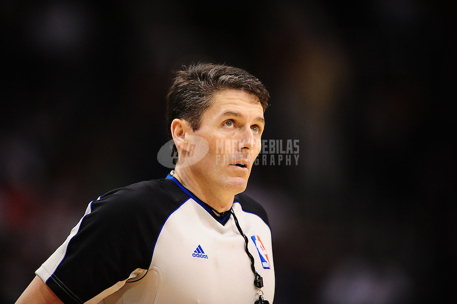 Mar. 27, 2011; Phoenix, AZ, USA; NBA referee Scott Foster during the game between the Dallas Mavericks against the Phoenix Suns at the US Airways Center. Mandatory Credit: Mark J. Rebilas-