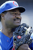 Chicago Cubs Manager Don Baylor before a 2002 MLB season game against the San Diego Padres at Qualcomm Stadium, in San Diego, California. (Larry Goren/Four Seam Images)