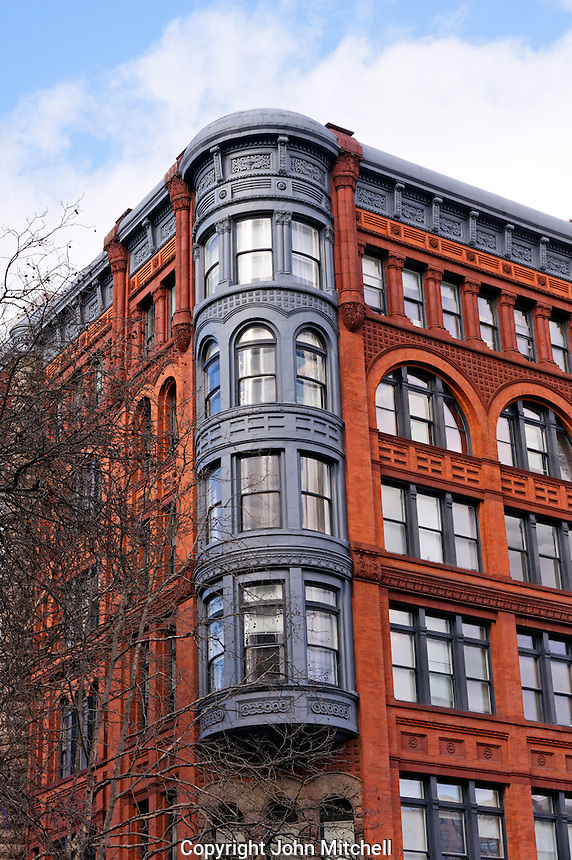 Victorian era Romanesque Revival style Pioneer Building in the Pioneer Square historical district, Seattle
