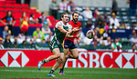 Spain vs Zimbabwe during the HSBC Sevens Wold Series Qualifier match as part of the Cathay Pacific / HSBC Hong Kong Sevens at the Hong Kong Stadium on 28 March 2015 in Hong Kong, China. Photo by Juan Manuel Serrano / Power Sport Images