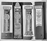 Pittsburgh PA: Individual ribbons for the 1953 Presidential inaugural reception for Dwight Eisenhower and Richard Nixon - 1953