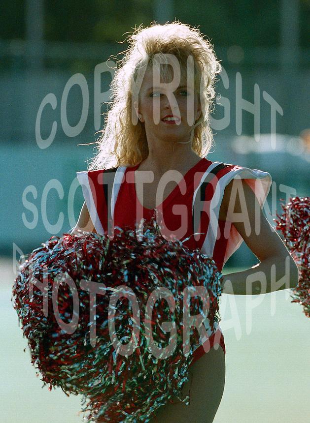 Ottawa Rough Riders cheerleader 1990. Photo F. Scott Grant