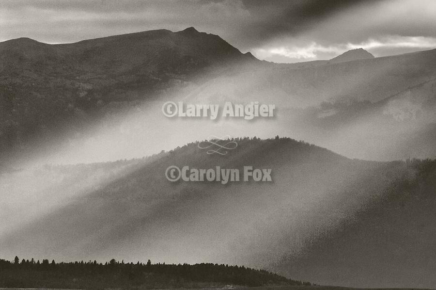 Cleaning storm, god beams, Madison Range, Gallatin County, Montana