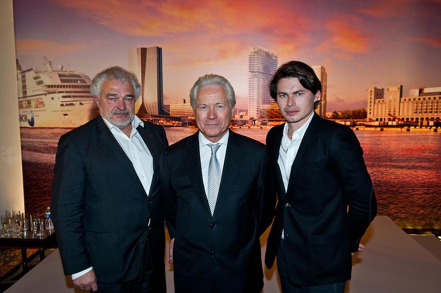 Rencontre Pdt Caselli ( MPM ), avec Marc Pietri ( Constructa ) et son fils Jean-Baptiste Pietri, architecte, à l'Hôtel Carlton - MIPIM 2012- le 8 mars 2012, à Cannes
