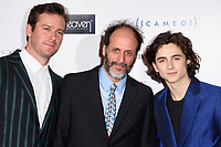 Armie Hammer, Luca Guadagnino and Timothee Chalamet<br /> arriving for the Critic's Circle Film Awards 2018, Mayfair Hotel, London<br /> <br /> <br /> ©Ash Knotek  D3374  28/01/2018