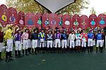 October 07, 2018, Longchamp, FRANCE - Jockey introduction before the Qatar Prix de l'Arc de Triomphe (Gr. I) at  ParisLongchamp Race Course  [Copyright (c) Sandra Scherning/Eclipse Sportswire)]
