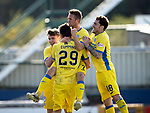 Inverness Caley v St Johnstone…08.04.17     SPFL    Tulloch Stadium<br />Graham Cummins celebrates his goal with Craig Thomson, Chris Millar and Paul Paton<br />Picture by Graeme Hart.<br />Copyright Perthshire Picture Agency<br />Tel: 01738 623350  Mobile: 07990 594431
