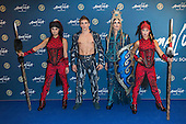 London, UK. 19 January 2016. Cirque du Soleil performers. Celebrities arrive on the red carpet for the London premiere of Amaluna, the latest show of Cirque du Soleil, at the Royal Albert Hall.