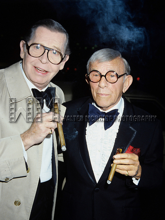 Milton Berle and George Burns in 1982.