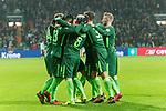 13.01.2018, Weser Stadion, Bremen, GER, 1.FBL, Werder Bremen vs TSG 1899 Hoffenheim, im Bild<br /> <br /> Jubel <br /> Theodor Gebre Selassie (Werder Bremen #23)<br /> Zlatko Junuzovic (Werder Bremen #16)<br /> Max Kruse (Werder Bremen #10)<br /> Jerome Gondorf (Werder Bremen #8)<br /> Florian Kainz (Werder Bremen #7) Milos Veljkovic (Werder Bremen #13)<br /> Foto &copy; nordphoto / Kokenge